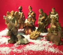 Hand Painted Resin Figures for Christmas Nativity Stable and Manger Scene